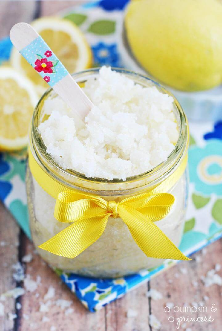DIY Lemon Sugar Scrub with Coconut Oil