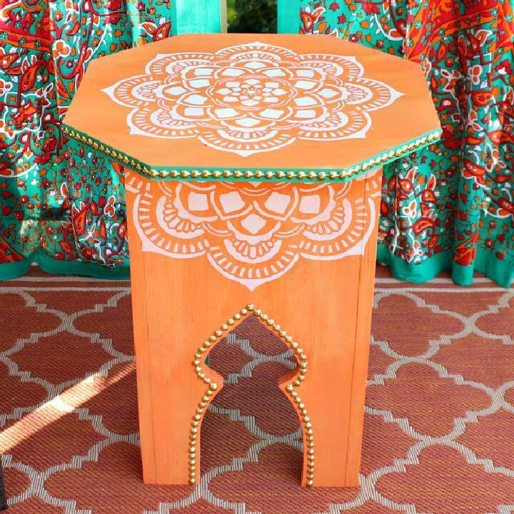 DIY Moroccan Side Table Tutorial