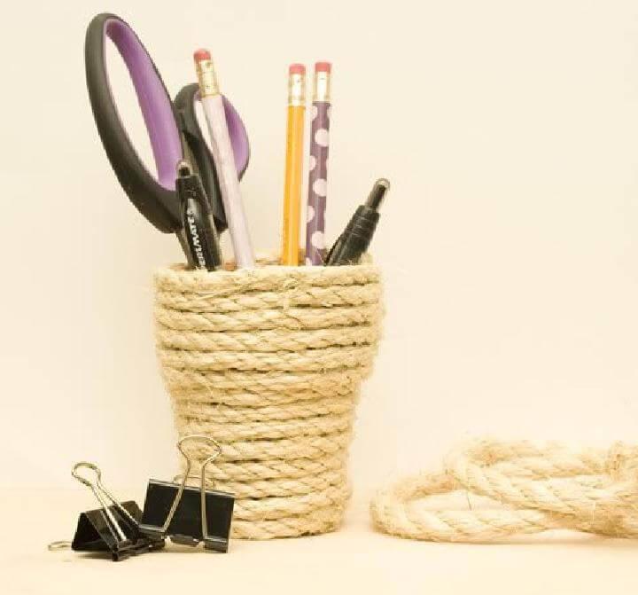 DIY Beautiful Nautical Rope Jar