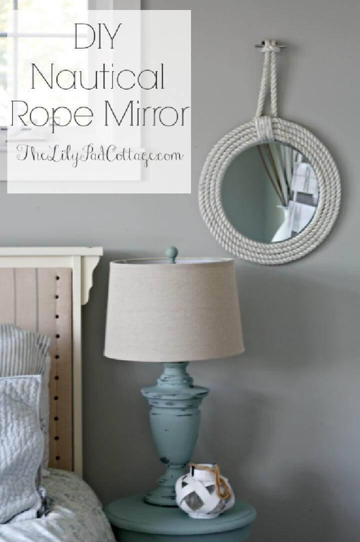 Hand-Built Nautical Rope Mirror