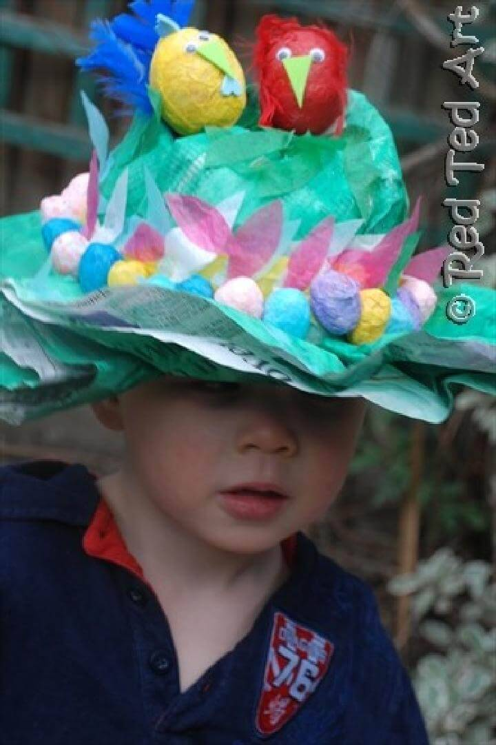 DIY Newspaper Easter Bonnet Hat