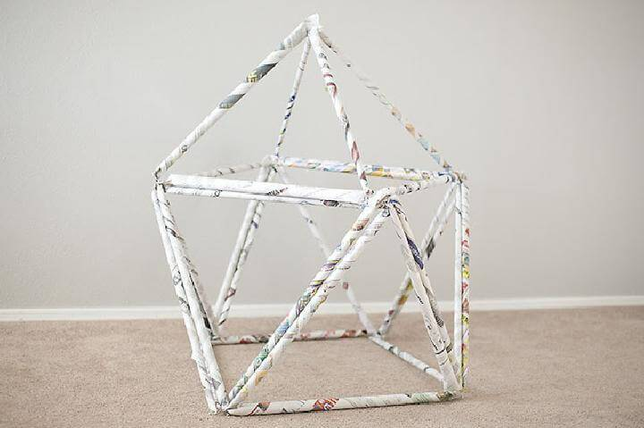 DIY Newspaper Fort or Building Block
