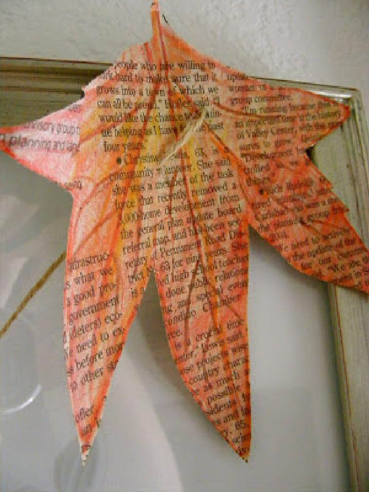 DIY Newspaper Leaf Decor