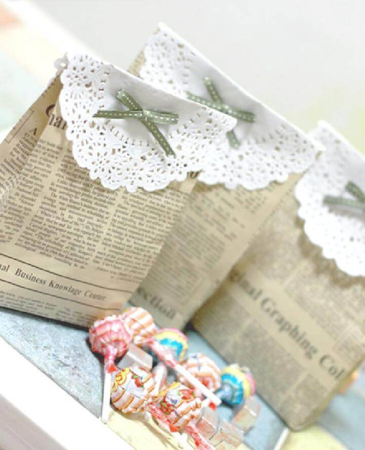 DIY Newspaper Treat Bags