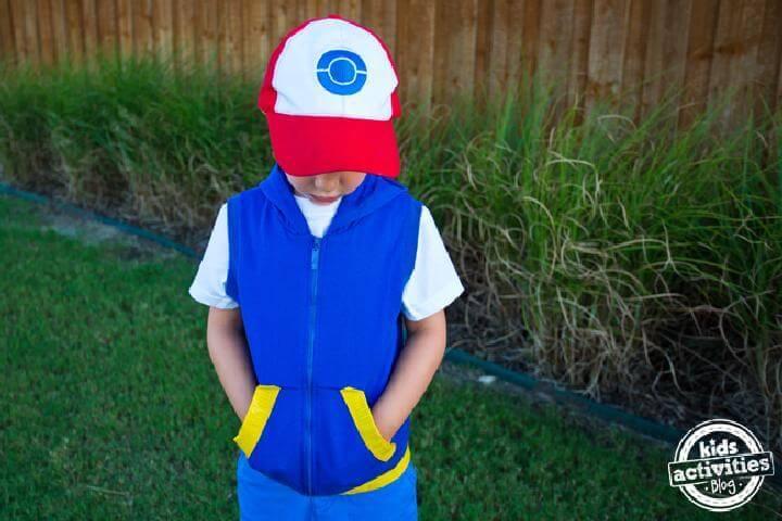 DIY No-Sew Pokemon Kids Costume