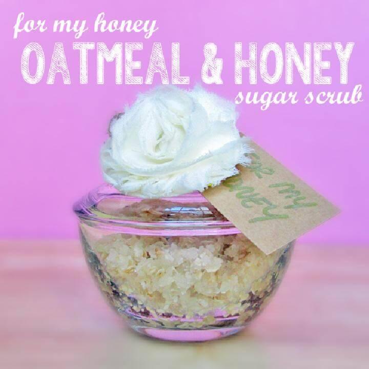 DIY Oatmeal Honey Sugar Scrub