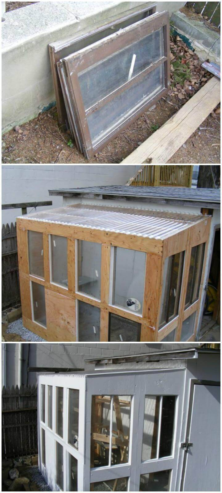 DIY Old Windows Urban Greenhouse