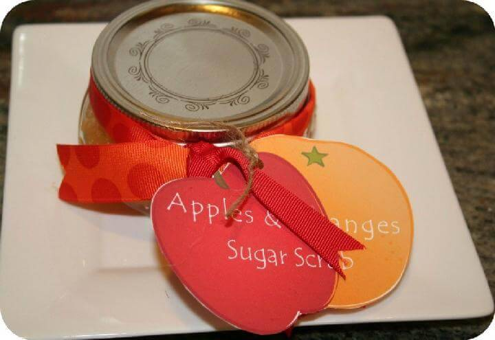 DIY Orangen und Apple Sugar Scrub