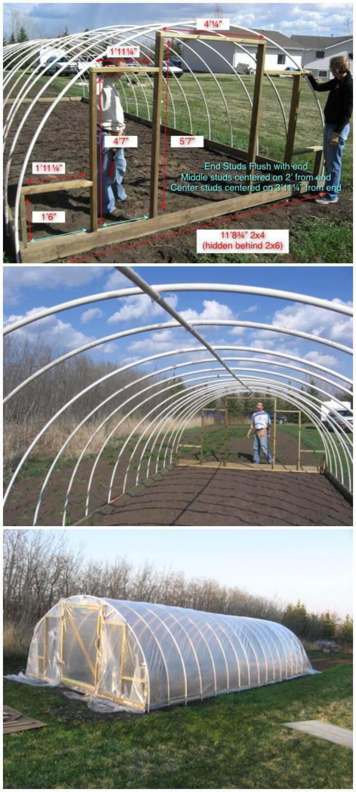 DIY PVC Pipe Hoop Style Greenhouse