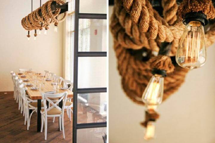 DIY Pendant Rope Lighting System for Dining Table