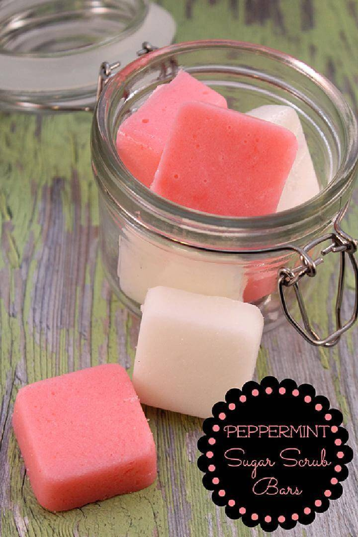 DIY Peppermint Sugar Scrub Bars