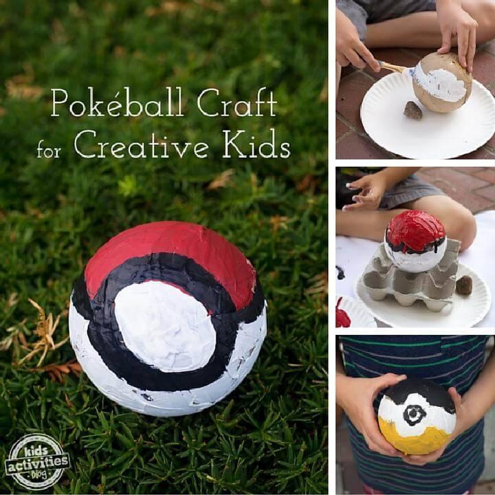DIY Pokeball Craft for Kids