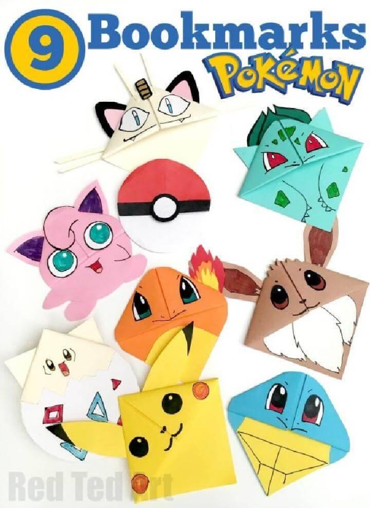 DIY Pokemon Bookmarks