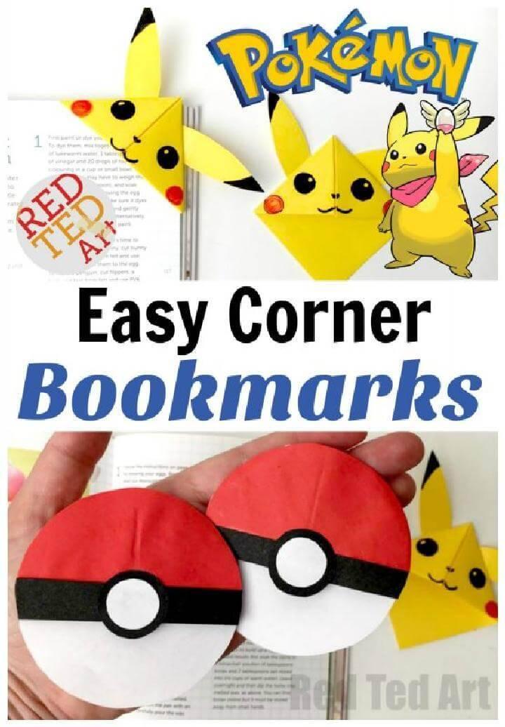 Homemade Easy Pokemon Corner Bookmarks