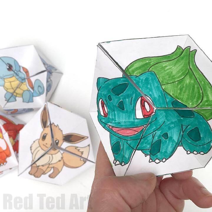 DIY Pokemon Evolution Paper Toys
