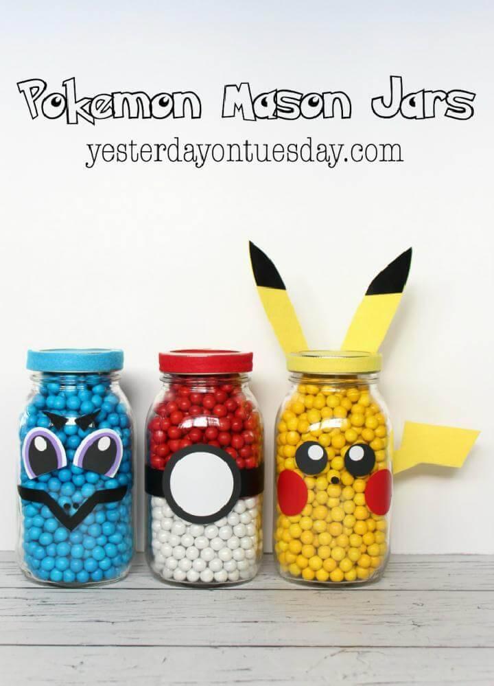 Brilliant DIY Pokemon Mason Jars