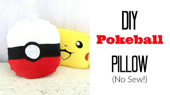 DIY Pokemon No Sew Pillow
