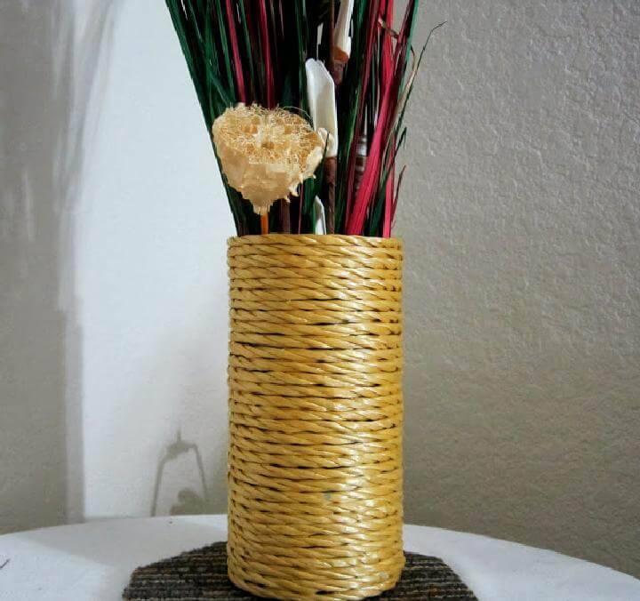 DIY Poly Rope Vase