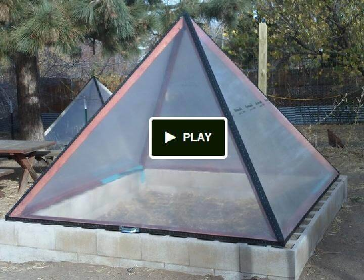 DIY Pyramid Shaped Well Insulated Greenhouse
