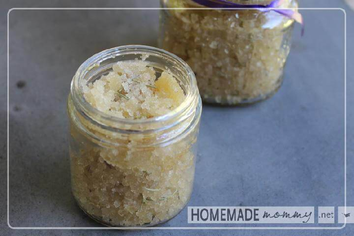DIY Quick Lemon Honey Sugar Scrub
