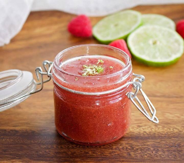 DIY Raspberry Lime Sugar Scrub Recipe