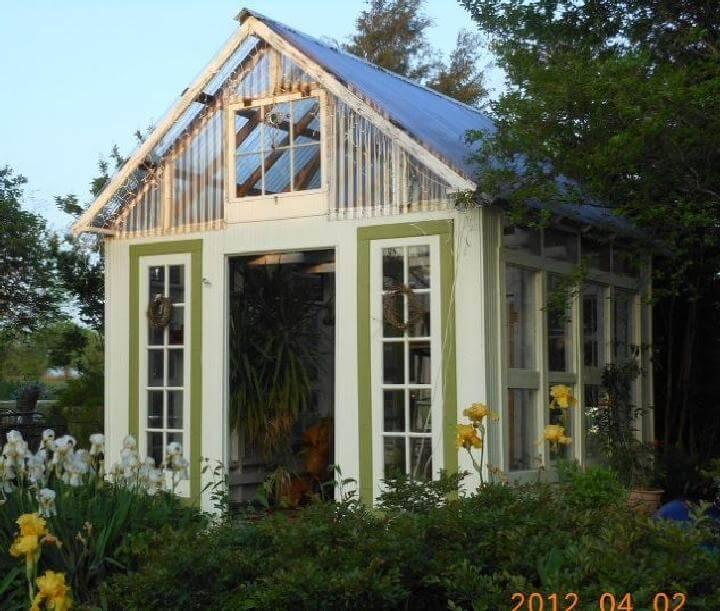DIY Reclaimed Windows and Doors Greenhouse