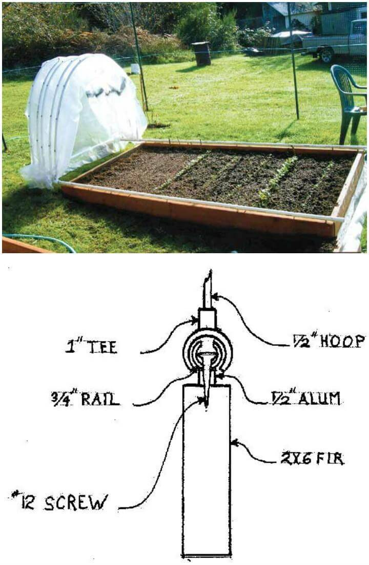 DIY Retractable PVC Pipe Hoop Greenhouse
