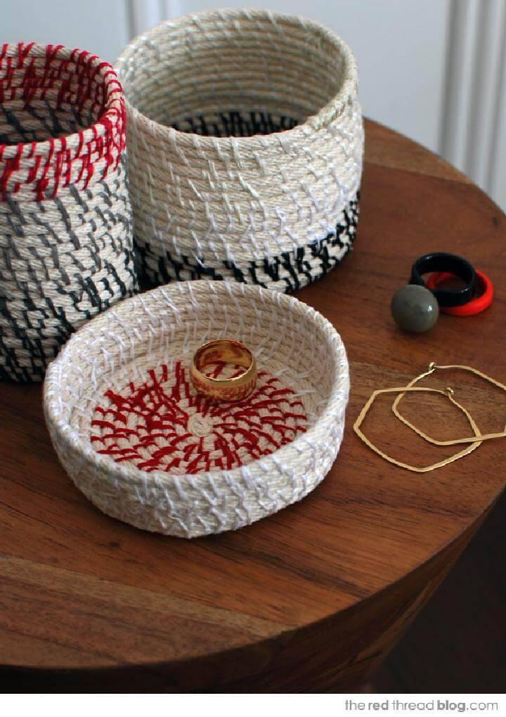 DIY Rope Coil Vessels