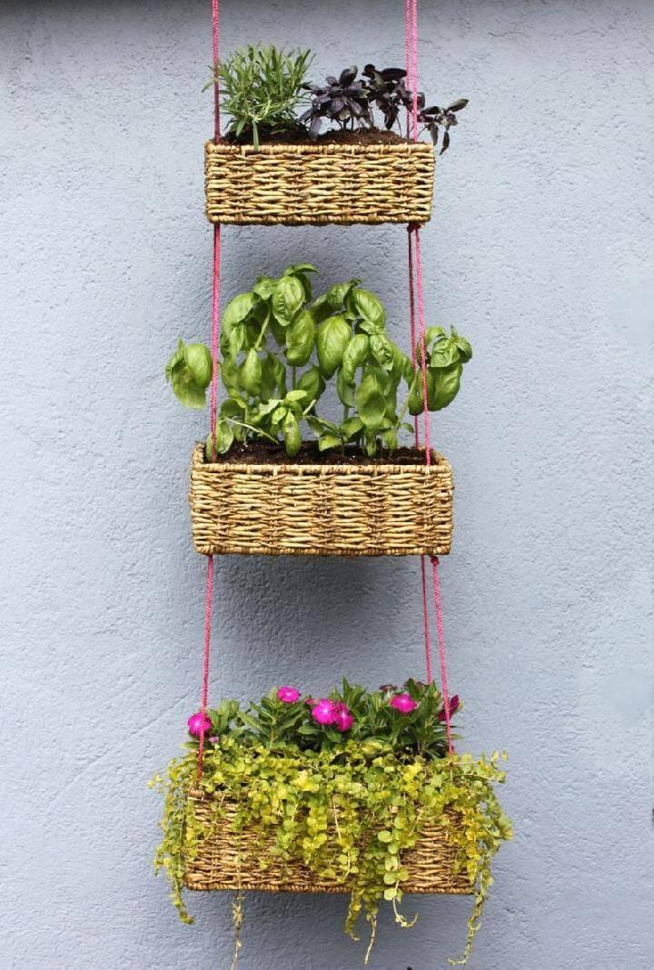 DIY Rope Hanging Basket Garden