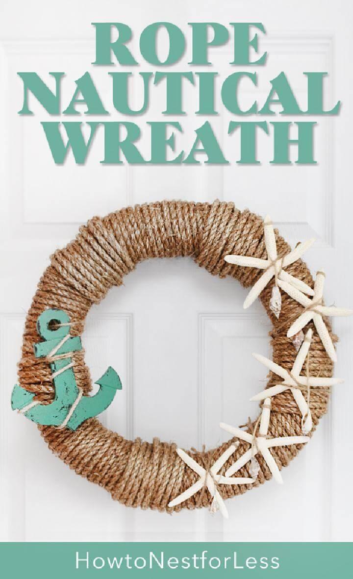 DIY Rope Nautical Wreath