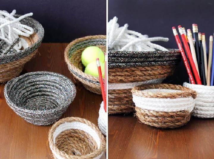 DIY Rope Nesting Baskets