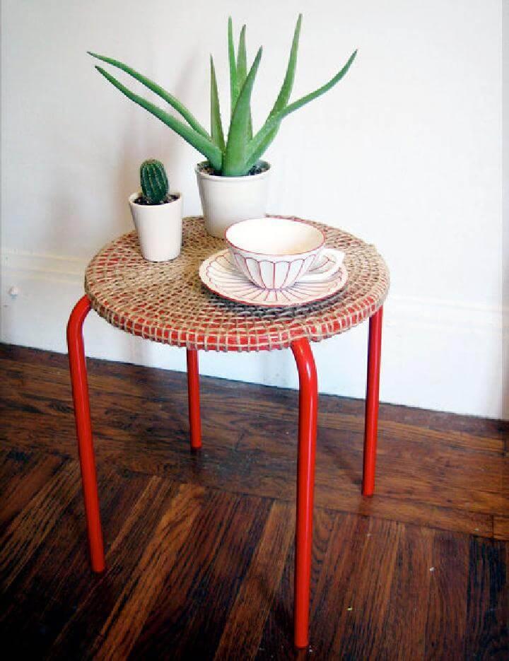 DIY Rope Woven IKEA Jute Table