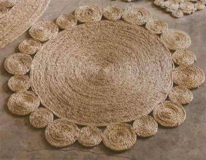 DIY Rustic Jute or Sisal Rope Rug