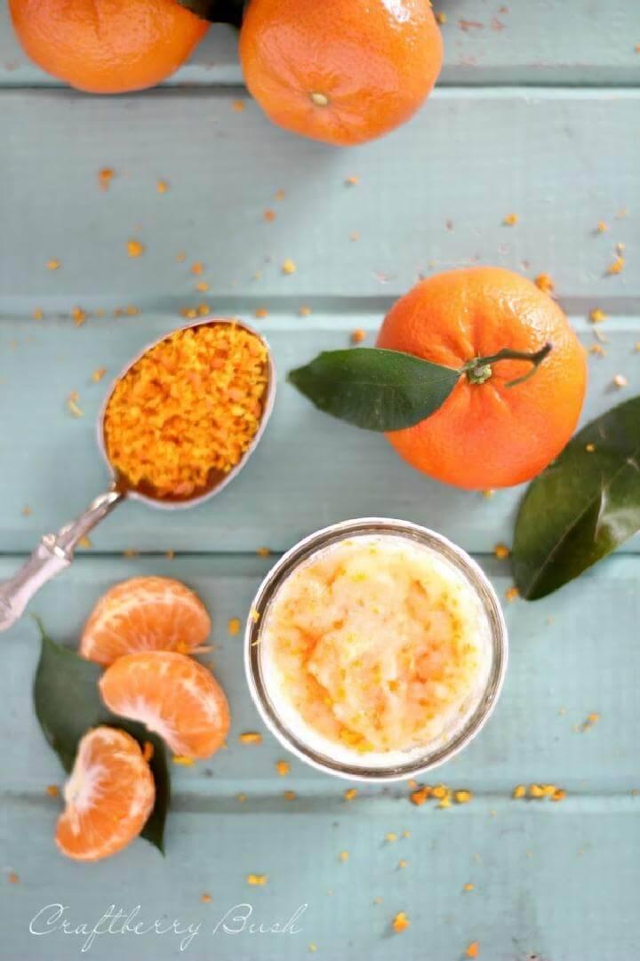 DIY Self-Made Mandarin Body Scrub