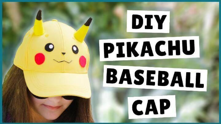 DIY Self-Made Pikachu Baseball Cap