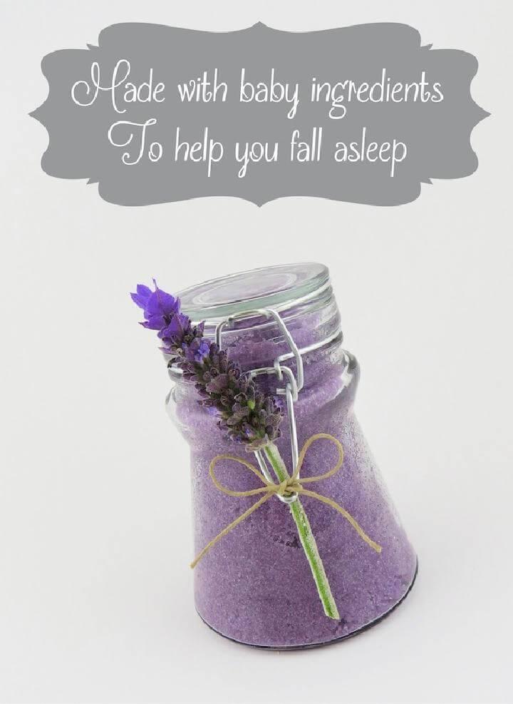 DIY Sleep Baby Sugar Scrub