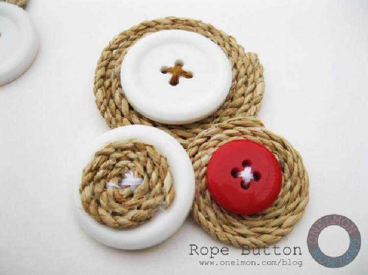 DIY Smartly Made Rope Buttons