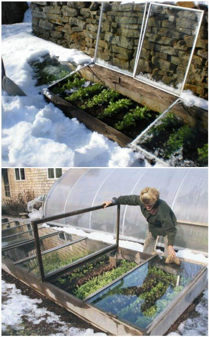 DIY Snow Cold Frames or Greenhouses