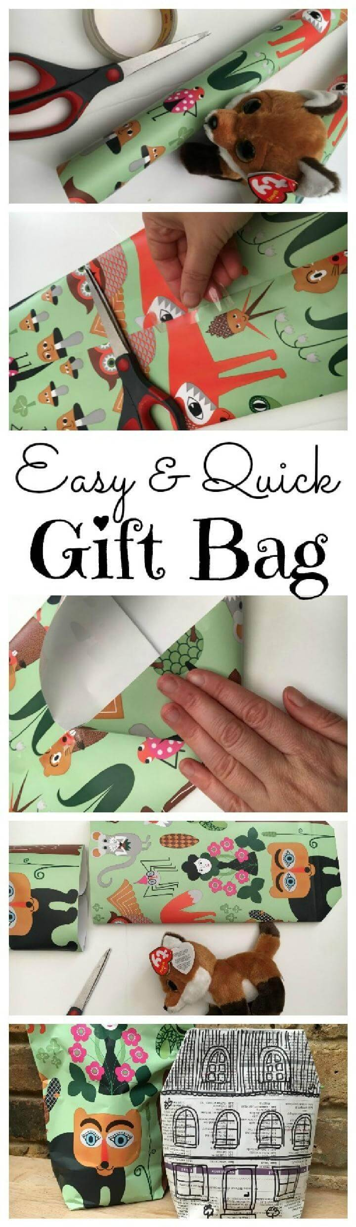 DIY Timeless Newspaper Gift Bag