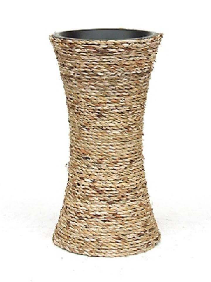 DIY Vintage Rope Vase