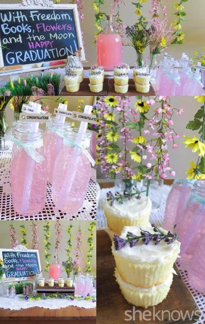 DIY Wildflower Spring Graduation Party Idea