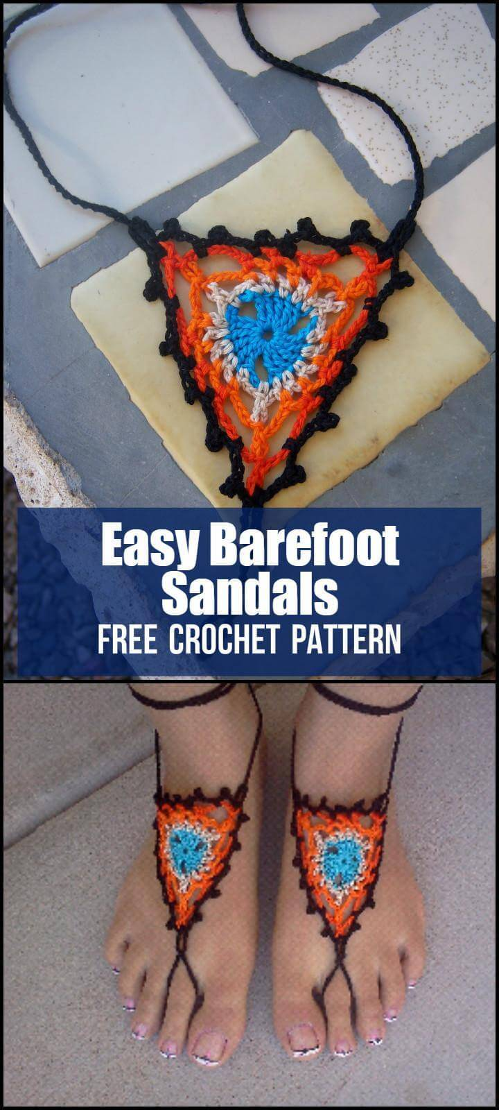 Easy Barefoot Sandals Free Crochet Pattern