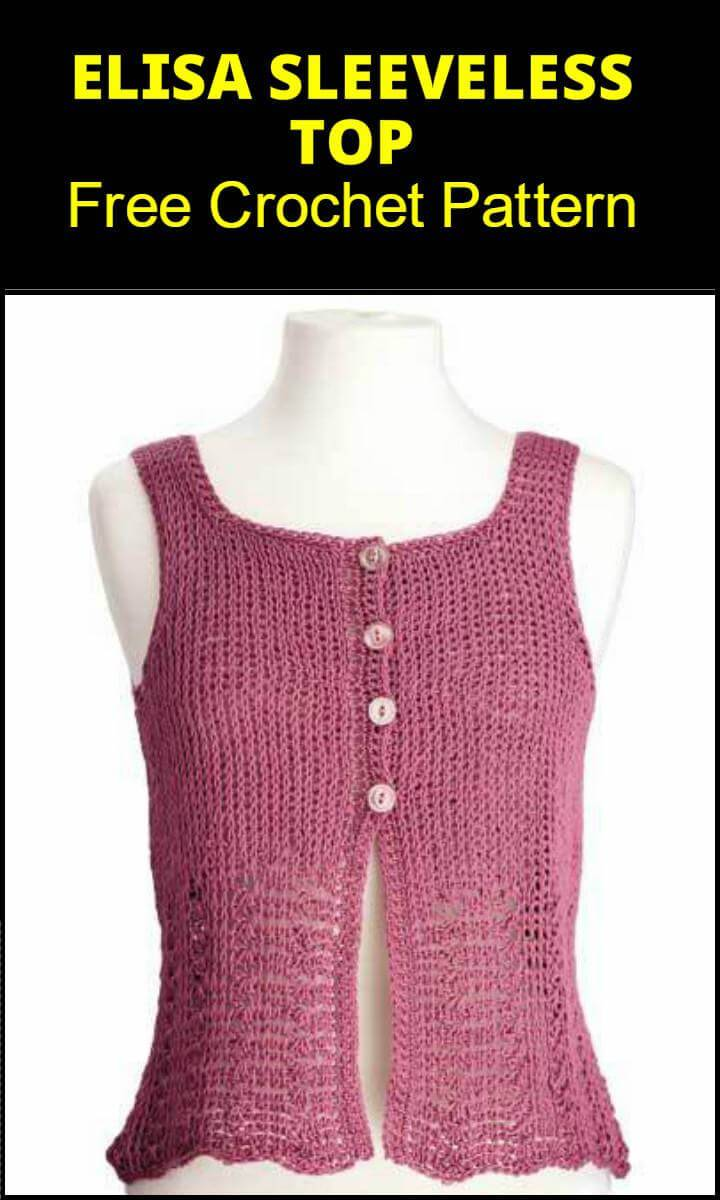 Elisa Sleeveless Top Free Crochet Pattern