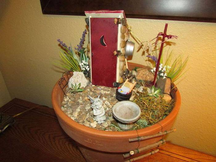 Fairy Garden Outhouse