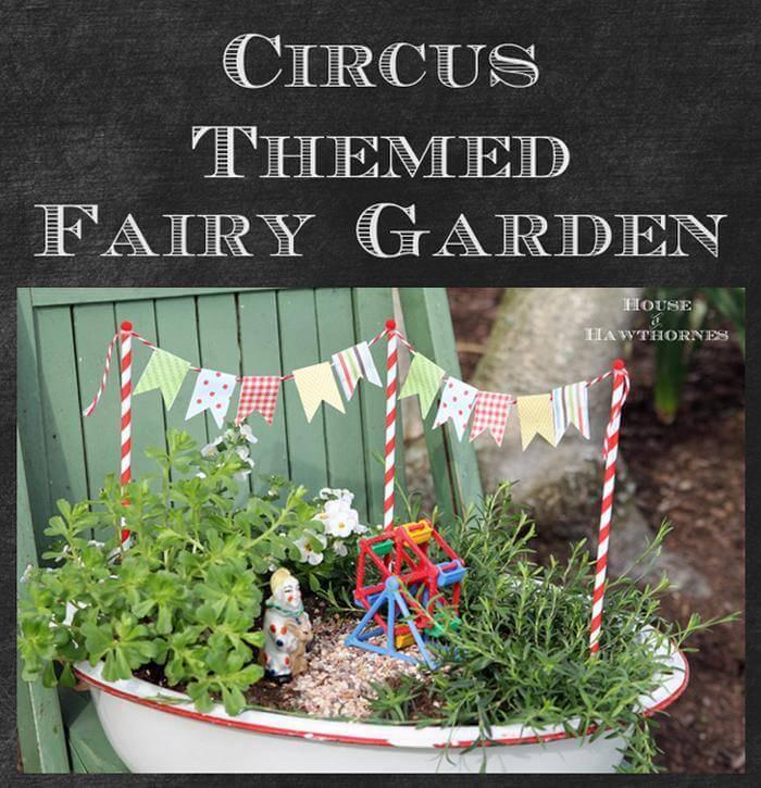 Fairy Garden With A Circus Theme