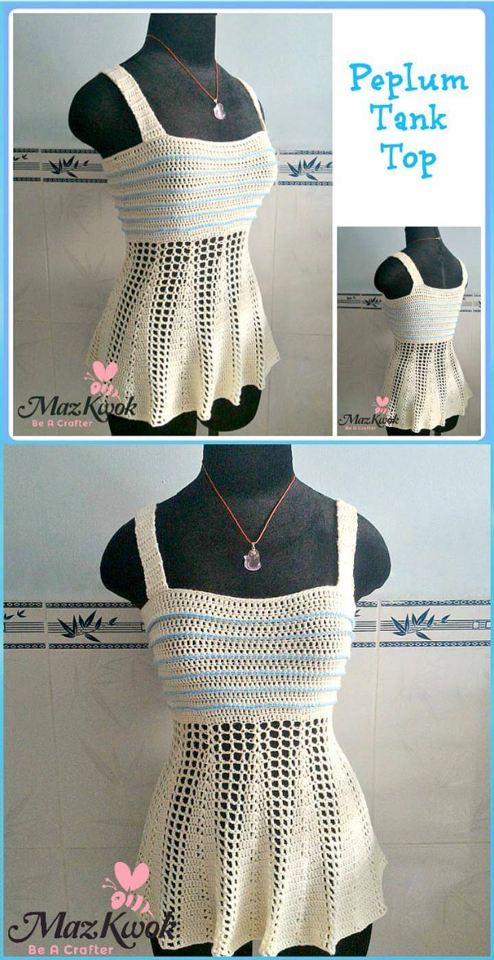 Free Crochet Peplum Tank Top Pattern