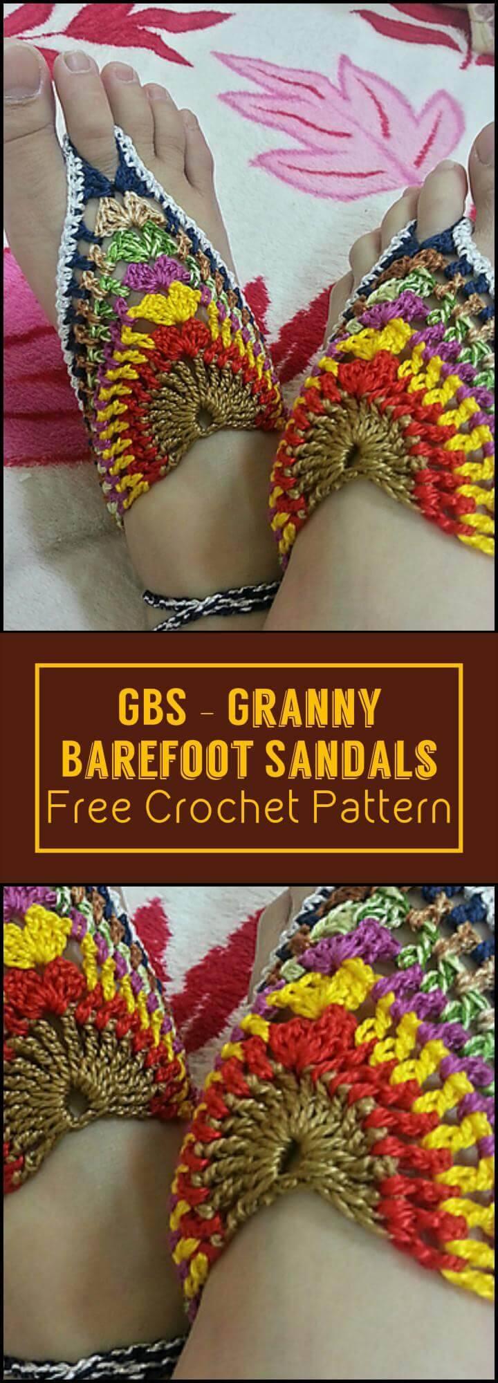 Crochet Barefoot Sandals 50 Free Crochet Patterns Diy Crafts