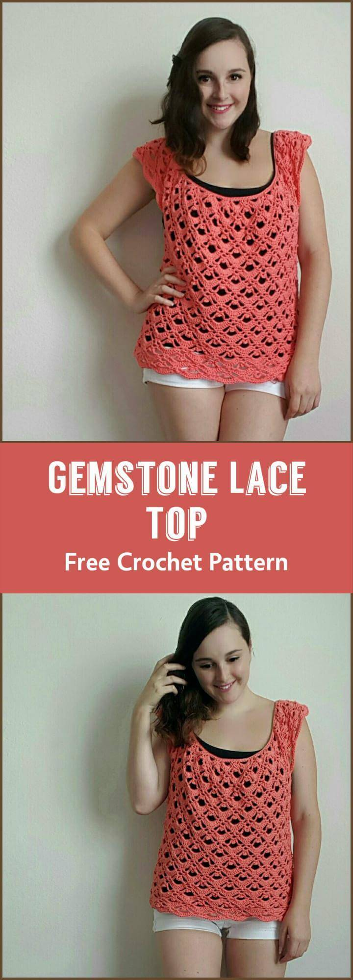 Gemstone Lace Top Free Crochet Pattern