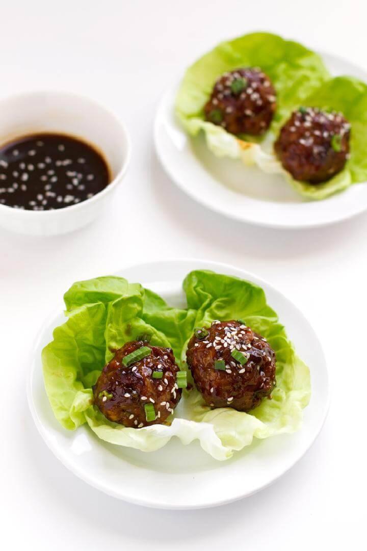 Graduation Party Asian Chicken Meatballs