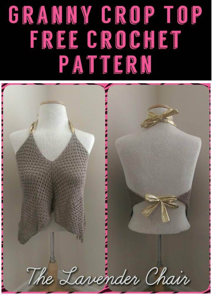 Granny Crop Top Free Crochet Pattern